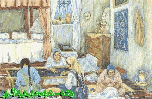 لوحــات فنيــة تجسد الثراث الليبي لمبدعين ليبيين  --11