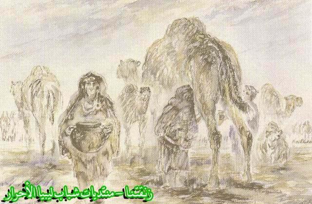 لوحــات فنيــة تجسد الثراث الليبي لمبدعين ليبيين  --3