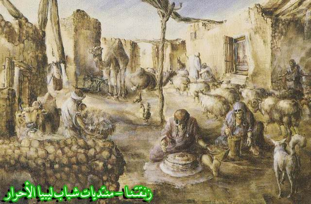 لوحــات فنيــة تجسد الثراث الليبي لمبدعين ليبيين  --4