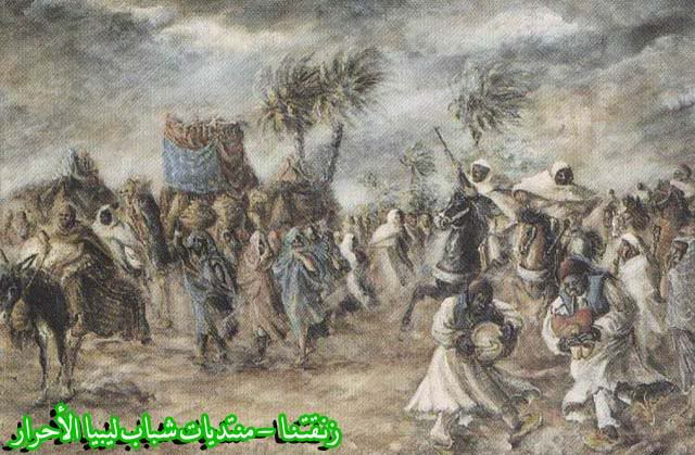 لوحــات فنيــة تجسد الثراث الليبي لمبدعين ليبيين  --5