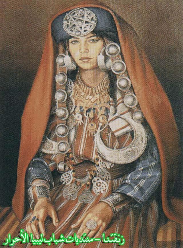 لوحــات فنيــة تجسد الثراث الليبي لمبدعين ليبيين  -