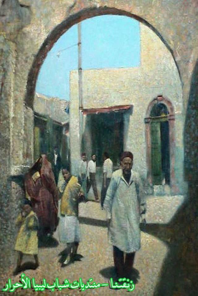 لوحــات فنيــة تجسد الثراث الليبي لمبدعين ليبيين  2