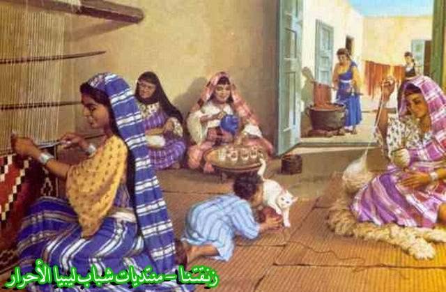 لوحــات فنيــة تجسد الثراث الليبي لمبدعين ليبيين  2b
