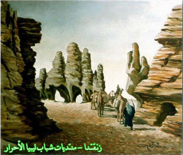 لوحــات فنيــة تجسد الثراث الليبي لمبدعين ليبيين  5414
