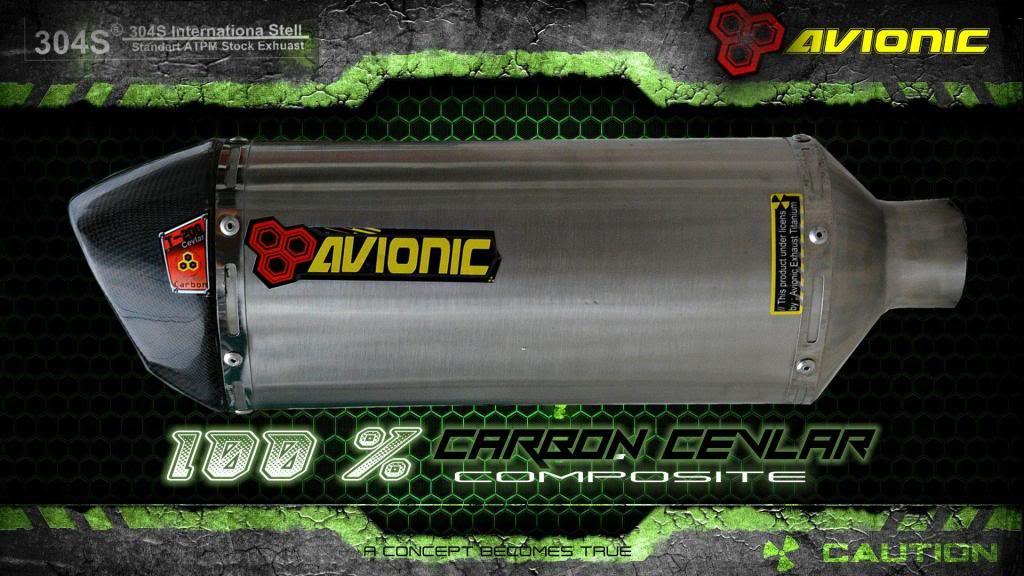 ▒▒▓█▀100% CARBON CEVLAR▀█▓▒▒Knalpot Avionic  Ninja 250Fi / Z250 model Akrapovic TampaksampingNEW_zps539d84b2