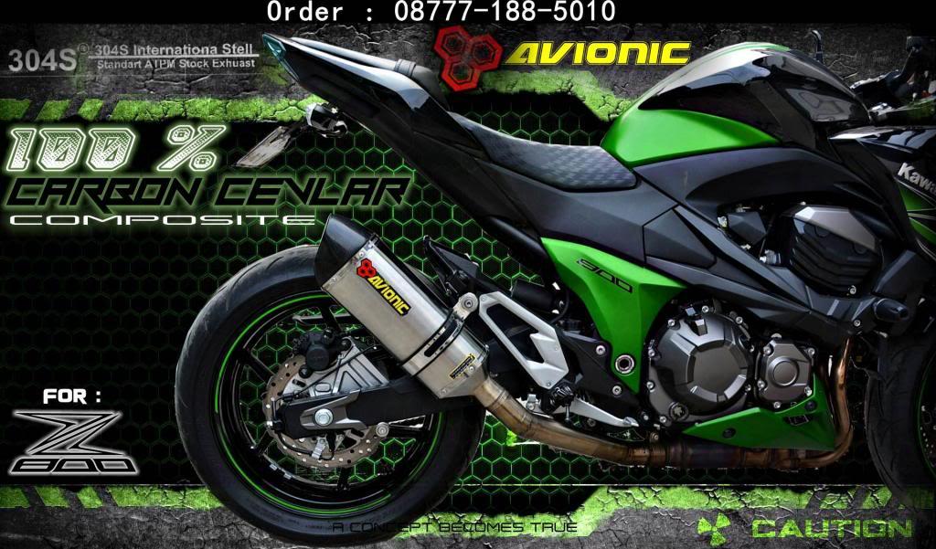 ▒▒▓█▀100% CARBON CEVLAR▀█▓▒▒Knalpot AVIONIC Kawasaki Z800 model Akrapovic Z800sampingCARBONNEW_zps0ea04e7d