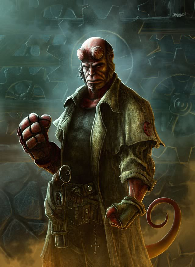 Hình đẹp (show all, no download) Hellboy-by-kerembeyit