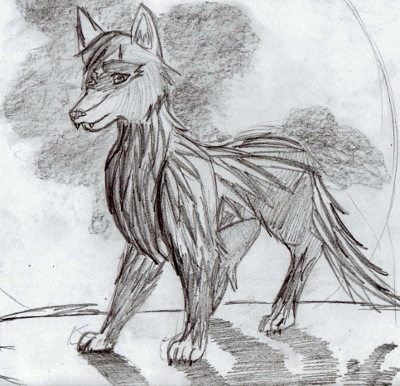 dibujo de un lobo Ntildentildentilde-copia400x386
