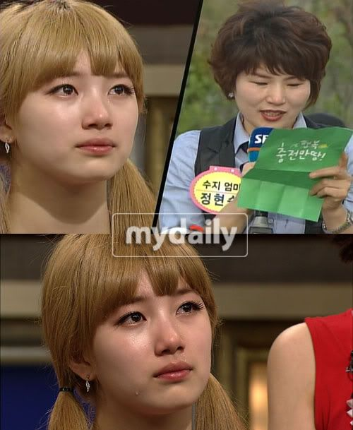 "Suzy bursts into tears on SBS's ""Dalgona"" 20110512_suzy"