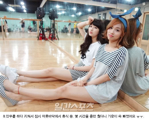 [NOT] miss A gives a behind-the-scenes tour of their practice room 20110721_missa_rehearsal_10