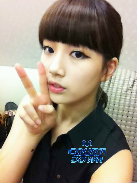 """[NOT] miss A makes a """"Good Bye Baby"""" comeback on M! Countdown 20110721_suzy_missa_backstage_mcd_1"""