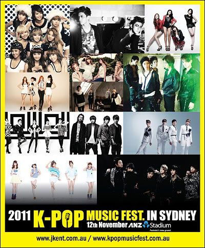 TVXQ, B2ST, SHINee, MBLAQ, miss A, 2AM and 4minute head to Australia for 'K-POP Music Festival in Sydney' 20111110_Artists-head-to-Australia-1
