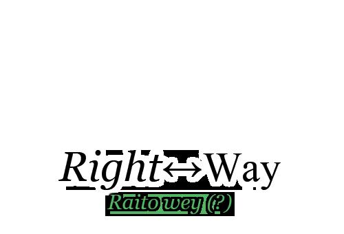 Right↔Way