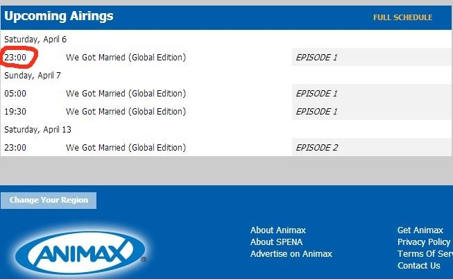 [INFO] We Got Married Global Time Schedule: Ddc4d6a1-dae7-45f0-bd49-e83ff04bfe48