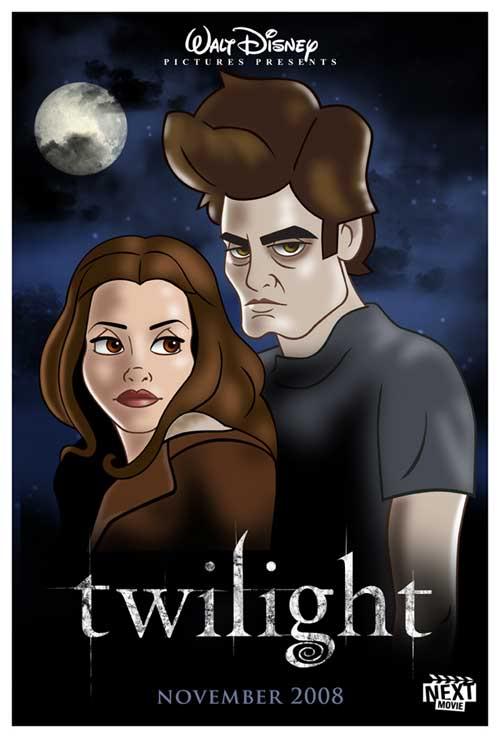 Pôster 'Disneyficado' de Crepúsculo  Disneys-Twilight-500