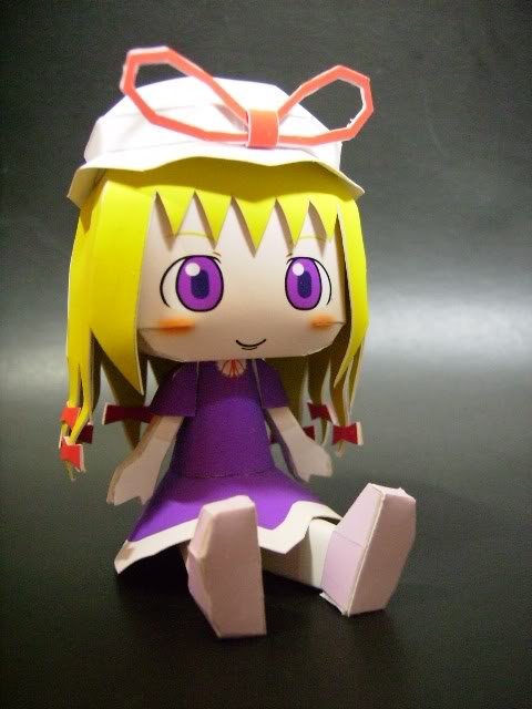 """Touhou Papercraft - Chơi figure kiểu """"con nhà nghèo"""" Yukari"""