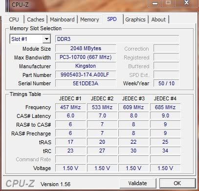 Gigabyte GA-H55N i7-870 on Air OC mini-atx Cpuz-spdmem-01