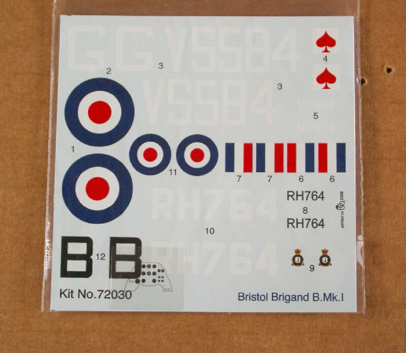 Bristol Brigand B. MkI 1/72  Valom review 50620099