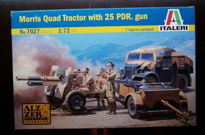 Morris Quad Tractor  & 25 PDR gun review Italeri 1/72 50620182-1