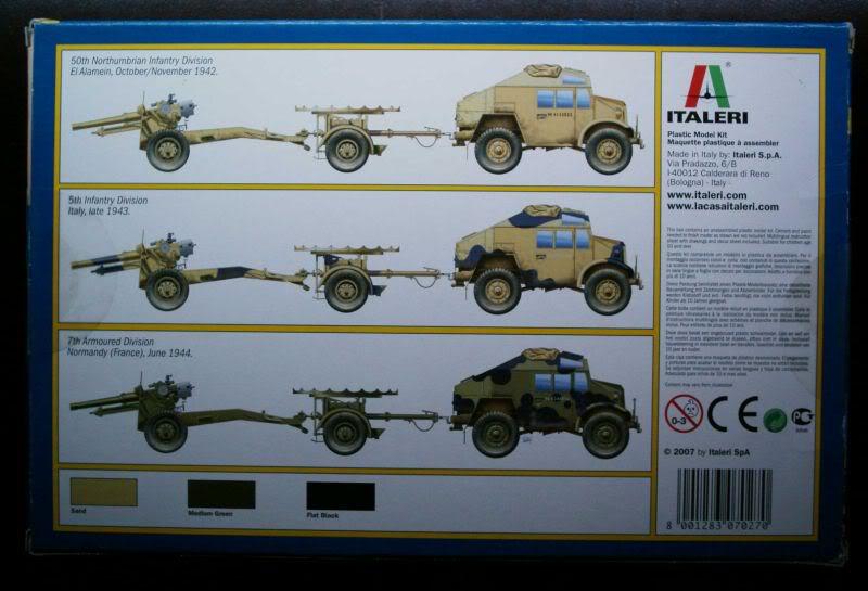 Morris Quad Tractor  & 25 PDR gun review Italeri 1/72 50620183