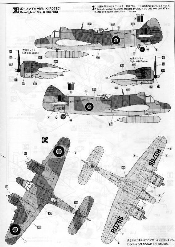 Beaufighter TF. X  Matchbox BeaufighterHasegawa