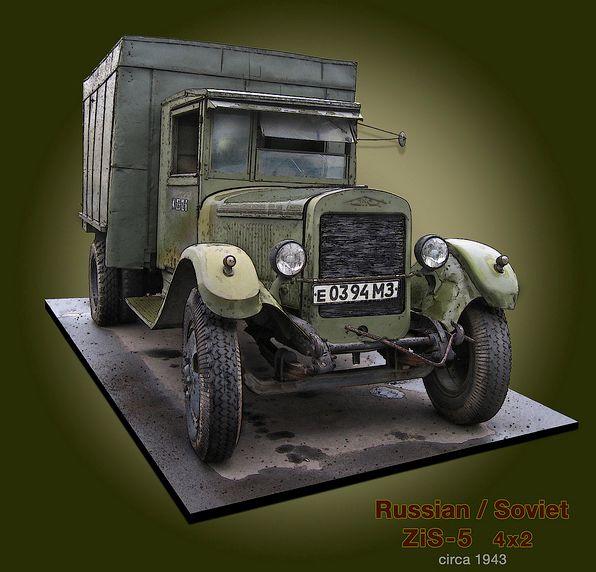 Camion GAZ AA 1/35 ZIS-5