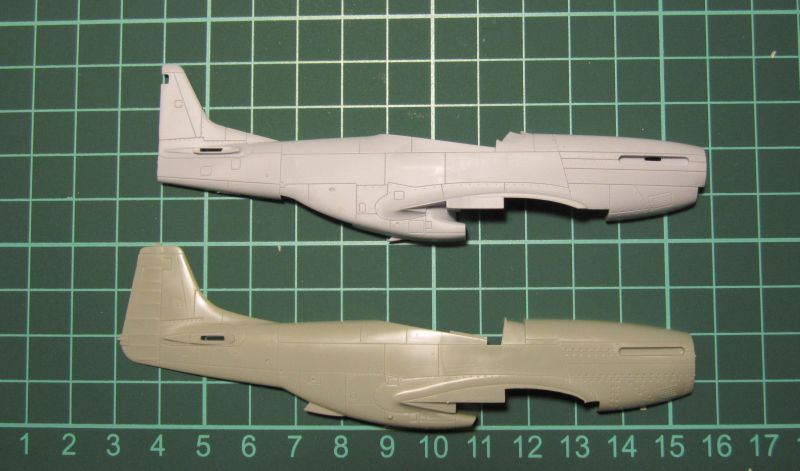 Armado y comparativa P-51 D Airfix new mold, P-51 D Academy with Jeep IMG_5681_zps6kpw0oz6
