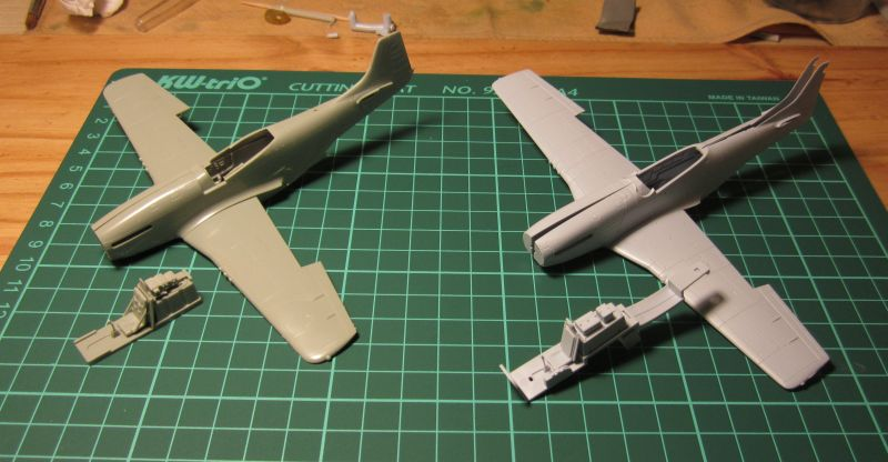 Armado y comparativa P-51 D Airfix new mold, P-51 D Academy with Jeep IMG_5701_zpsq4nleiut
