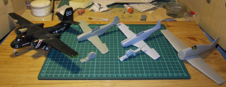 Armado y comparativa P-51 D Airfix new mold, P-51 D Academy with Jeep IMG_5705_zpsyf6jotsy