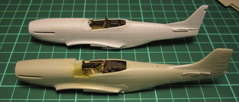 Armado y comparativa P-51 D Airfix new mold, P-51 D Academy with Jeep IMG_5727_zpsklzuxb4y