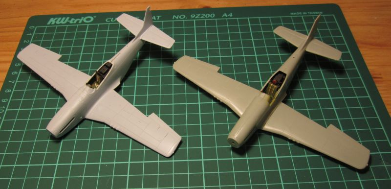 Armado y comparativa P-51 D Airfix new mold, P-51 D Academy with Jeep IMG_5762_zps0dj5xn3t