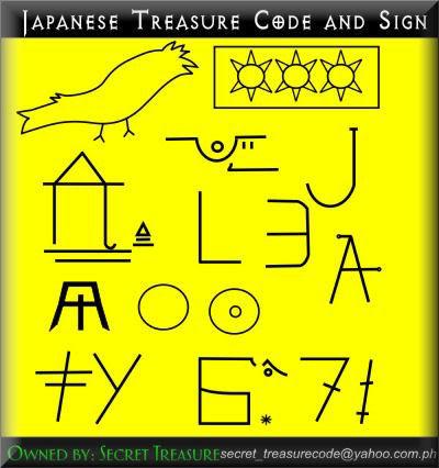 Treasure Code & Sign Sample Part II JapaneseImperialArmyTresureCodes