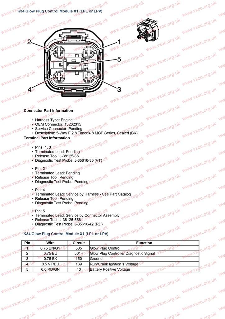 Circuito electrico de módulo de calentadores en 1.7cdti K34%20Glow%20Plug%20Control%20Module%20X1%20LPL%20or%20LPV