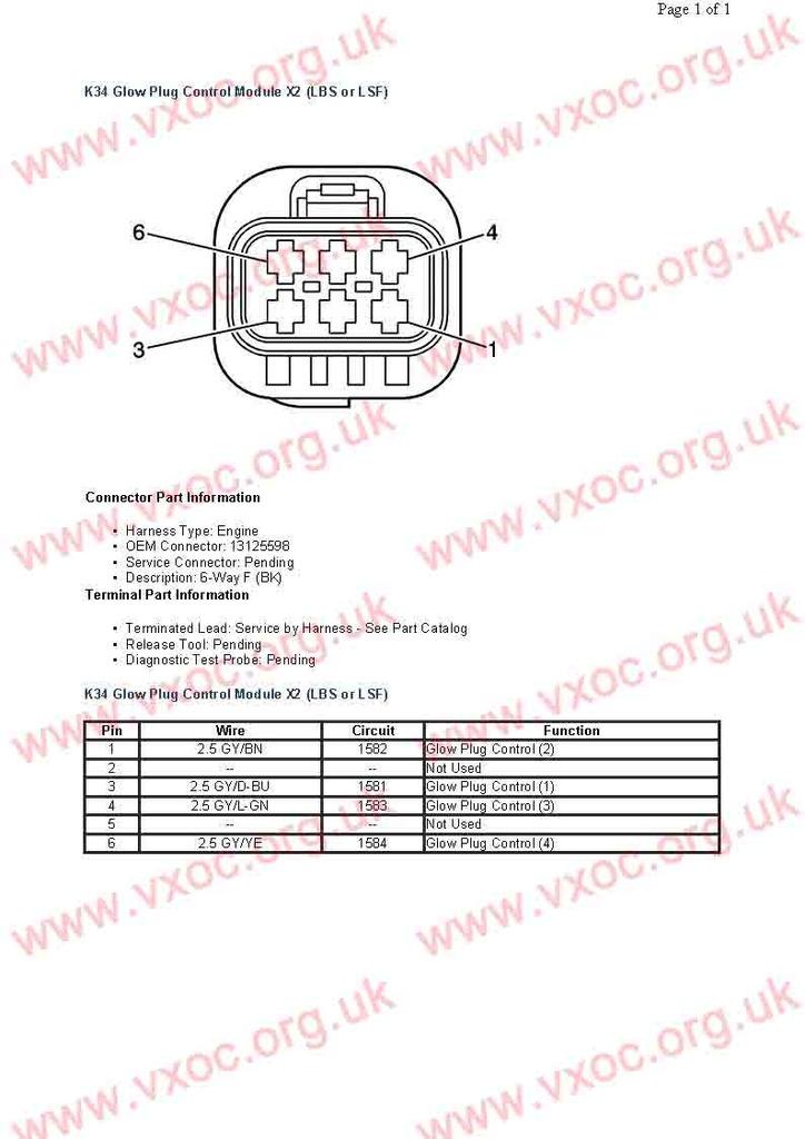 Circuito electrico de módulo de calentadores en 1.7cdti K34%20Glow%20Plug%20Control%20Module%20X2%20LBS%20or%20LSF
