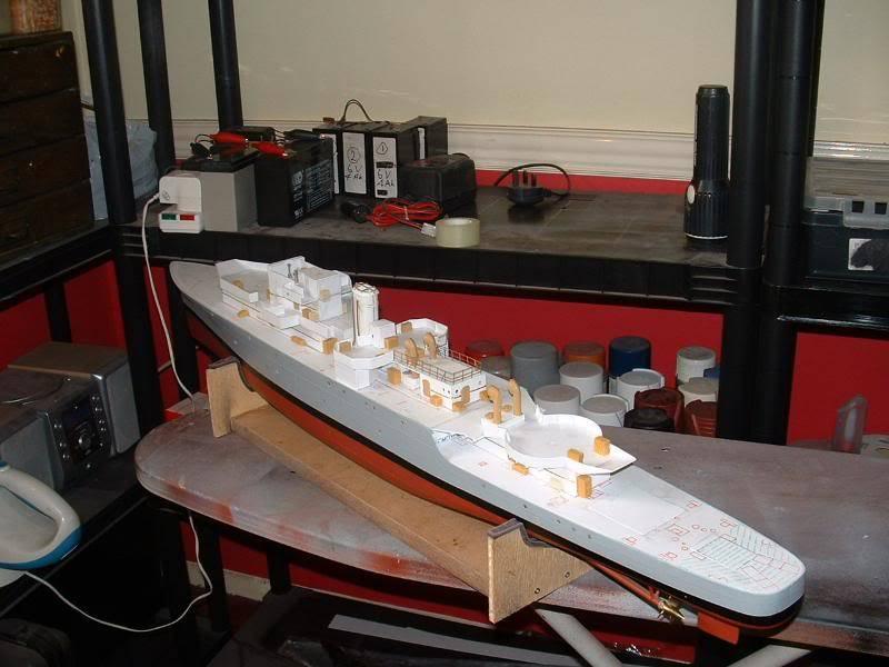 Deans HMS Amethyst build DSCF0260
