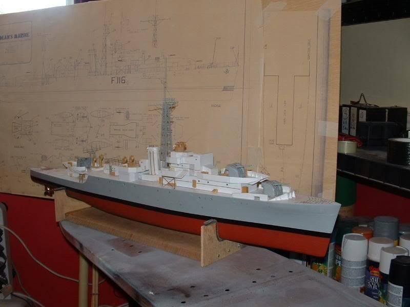 Deans HMS Amethyst build DSCF0261