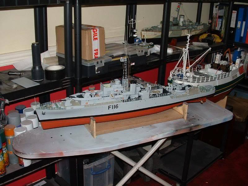 Deans HMS Amethyst build DSCF0269
