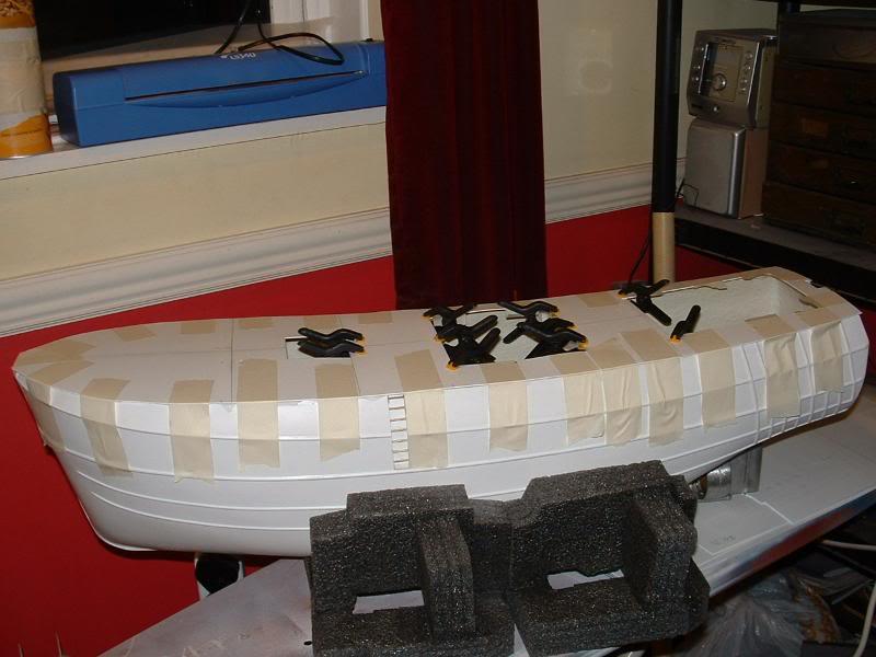 Model Slipway's Maggie M Build DSCF0191