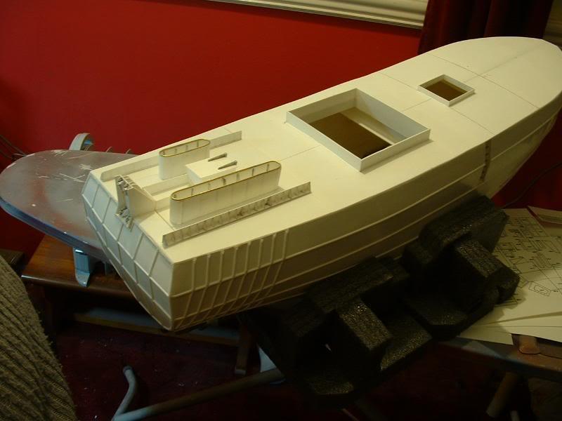 Model Slipway's Maggie M Build DSCF0209