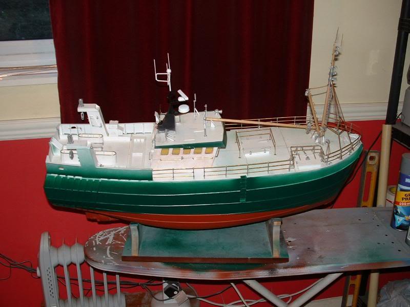 Model Slipway's Maggie M Build DSCF0227