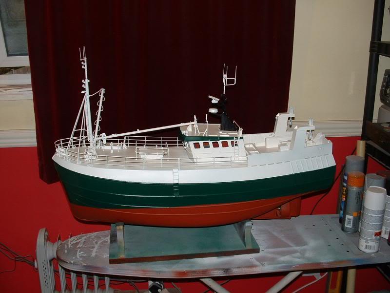 Model Slipway's Maggie M Build DSCF0230