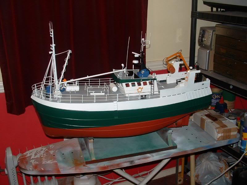 Model Slipway's Maggie M Build DSCF0235