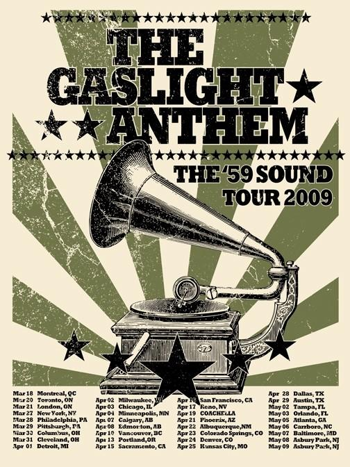 Did this 2009 Tour Poster physically exist? Gaslight-tour