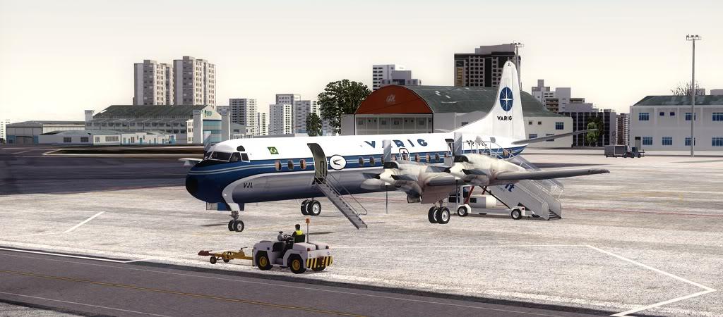 Símbolo da Ponte Aérea SP-RJ Lockheed L-188 Electra Varig 1
