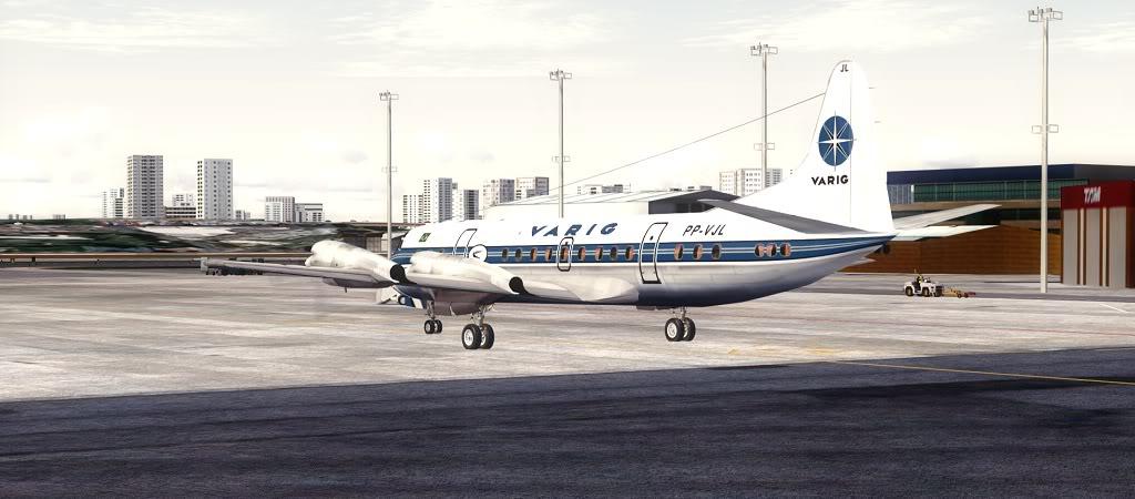 Símbolo da Ponte Aérea SP-RJ Lockheed L-188 Electra Varig 11
