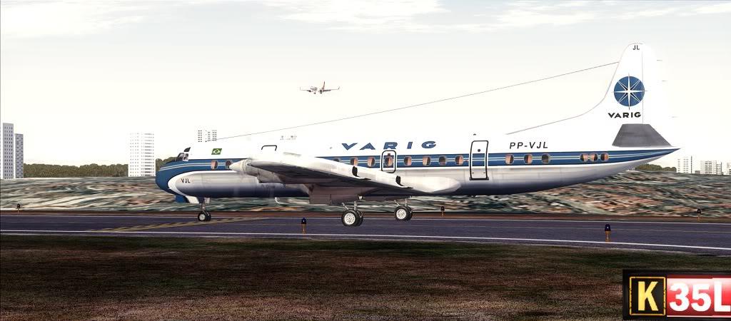 Símbolo da Ponte Aérea SP-RJ Lockheed L-188 Electra Varig 12