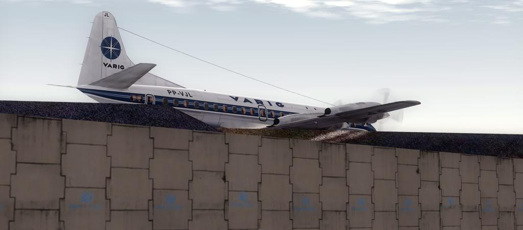 Símbolo da Ponte Aérea SP-RJ Lockheed L-188 Electra Varig 13