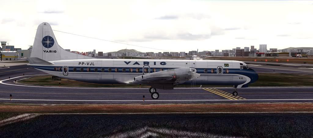 Símbolo da Ponte Aérea SP-RJ Lockheed L-188 Electra Varig 14
