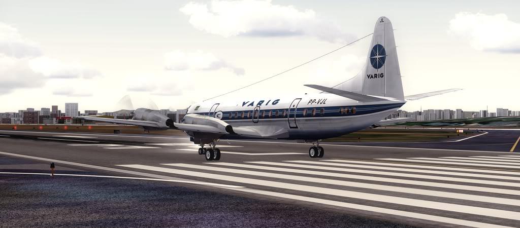 Símbolo da Ponte Aérea SP-RJ Lockheed L-188 Electra Varig 15