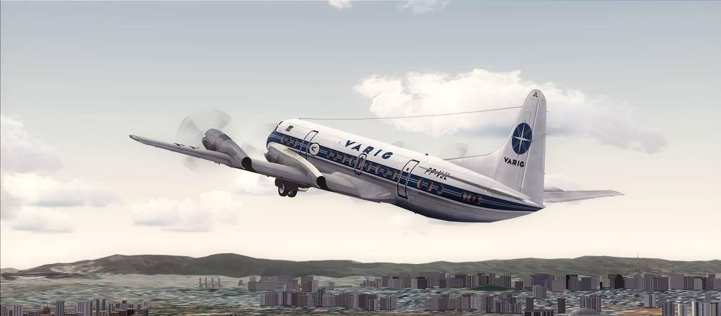 Símbolo da Ponte Aérea SP-RJ Lockheed L-188 Electra Varig 16